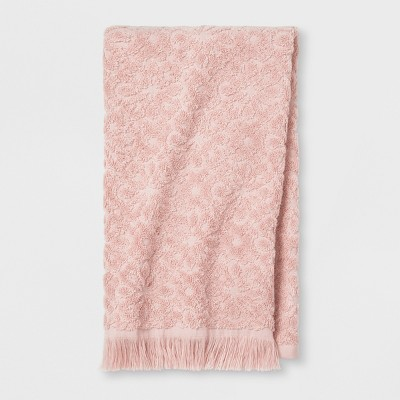 Soft Jacquard Accent Hand Towel Peach - Opalhouse™