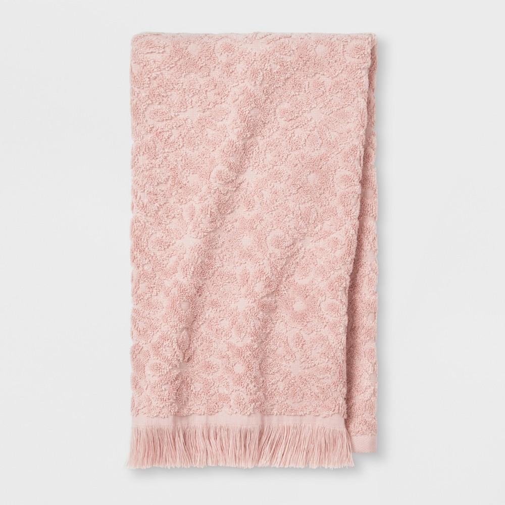 Soft Jacquard Accent Hand Towel Peach (Pink) - Opalhouse