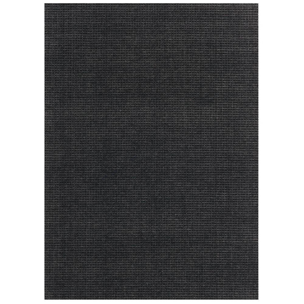 Image of 6' x 8' Pin Dot Indoor/Outdoor Rug Black - Foss Floors