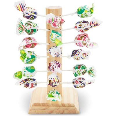 """Juvale Lollipop Stand Display Holder, Wooden Cake Pop Stand 9"""", Wedding Baby Showers Parties"""