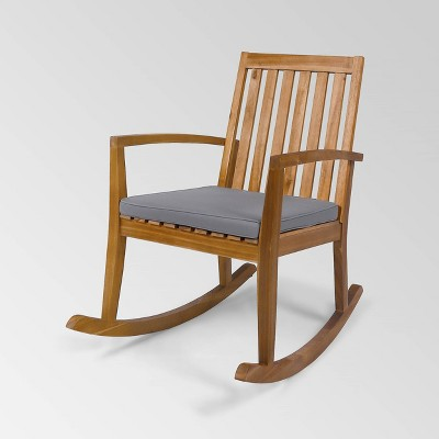 Montrose Acacia Wood Patio Rocking Chair Teak - Christopher Knight Home