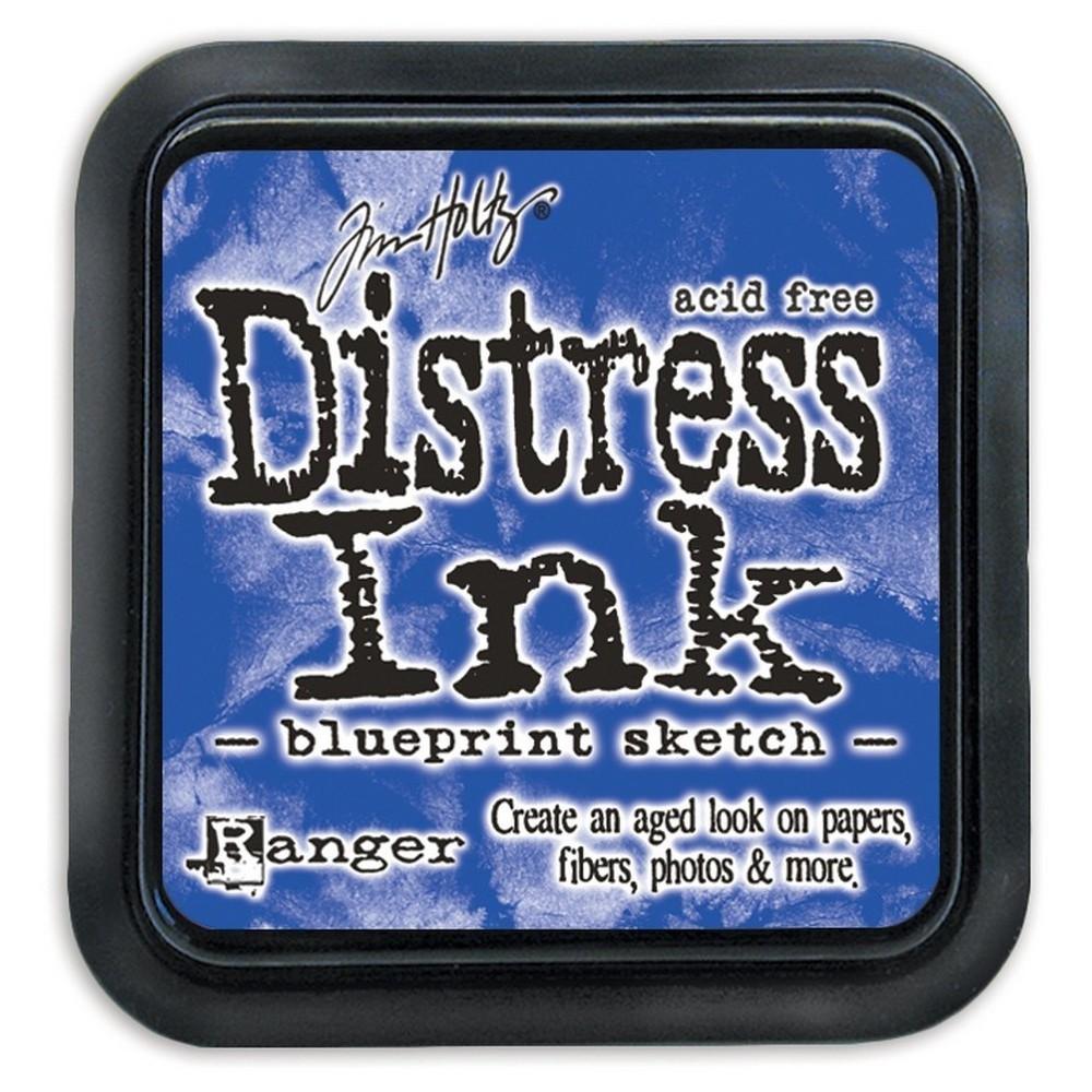 Tim Holtz Distress Ink Pad-Blueprint Sketch 2.25x2.25, Blueprint Sketch