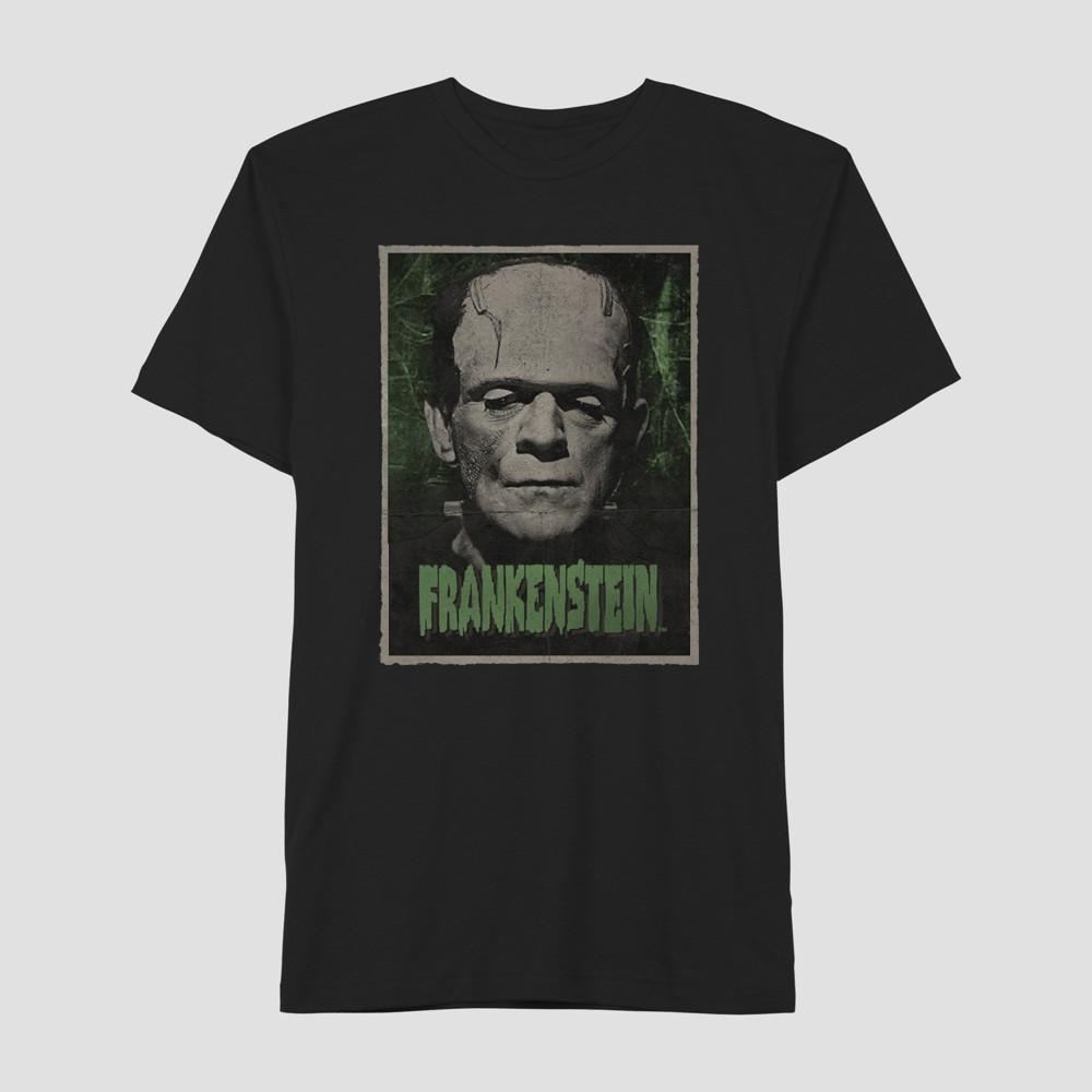 Men's Universal Studios Monsters Frankenstein Short Sleeve T-Shirt - Jet Black XL