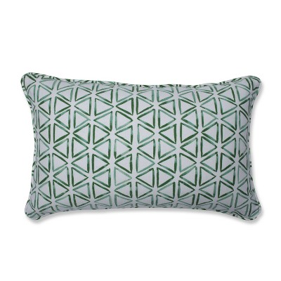 Painted Triangles Verte Throw Pillow - Pillow Perfect
