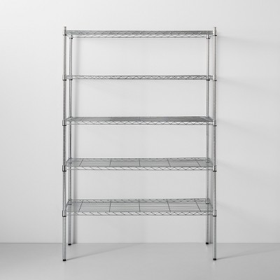 5 Tier Wide Wire Shelf Silver - Made By Design™