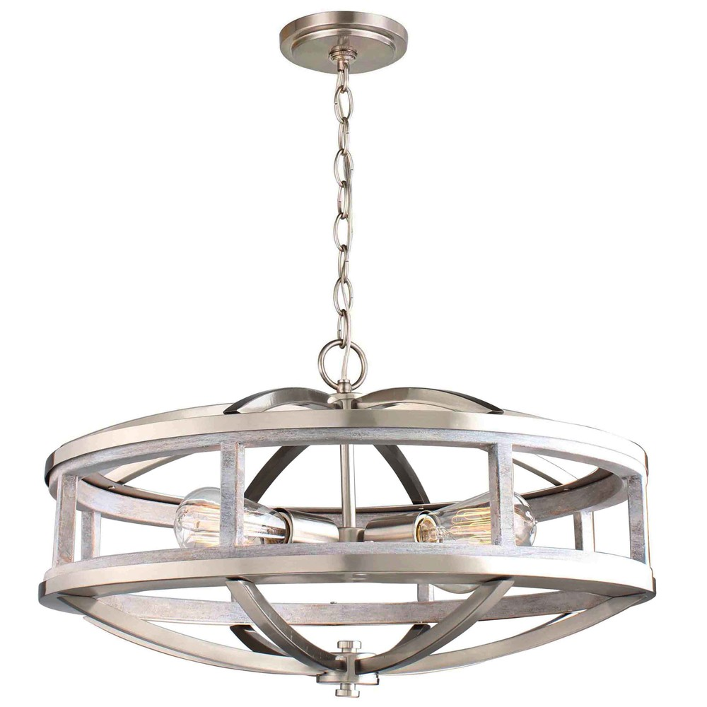 Montrose 4 Light Chandelier Silver/Gold - Eglo, Silver Gold
