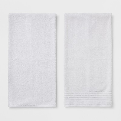 2pk Quilted Solid Bath Towel Set True White - Room Essentials™