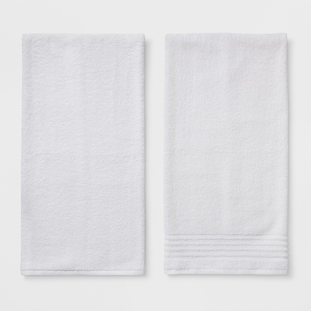 Image of 2pk Solid Bath Towel Set White - Room Essentials
