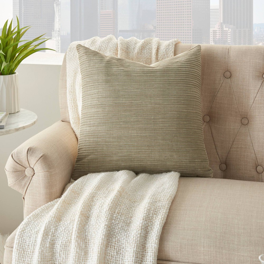 18 34 X18 34 Life Styles Textured Lines Throw Pillow Taupe Mina Victory
