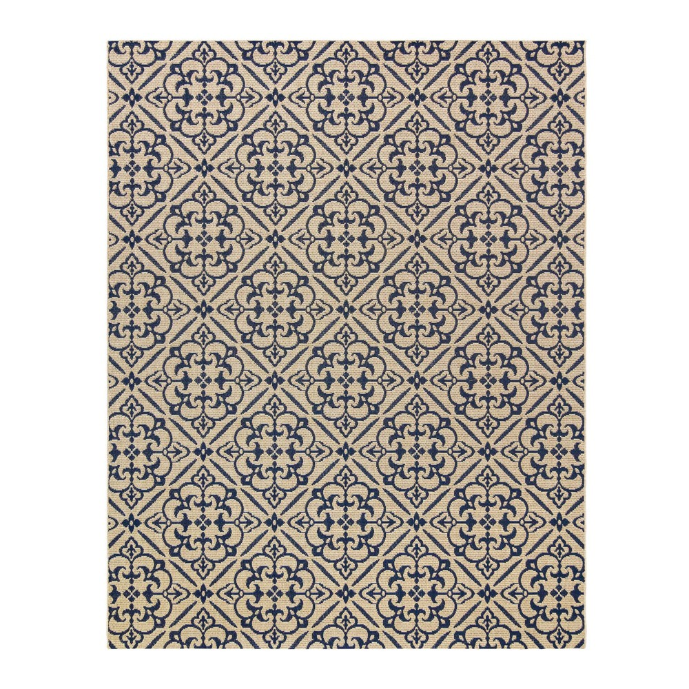 Image of 5'x7' Clifton Grain Outdoor Rug Navy - Studio by Brown Jordan