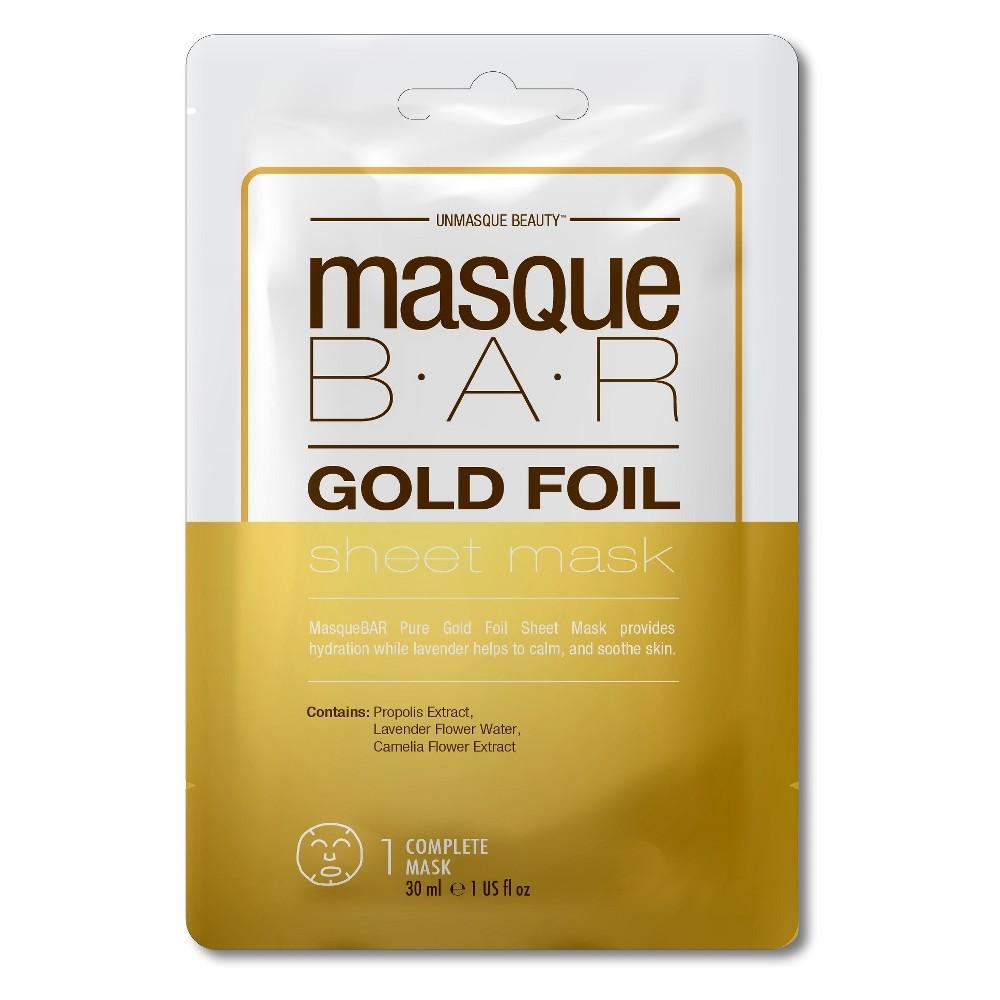 Masque Bar Foil Sheet Mask Gold - 1ct