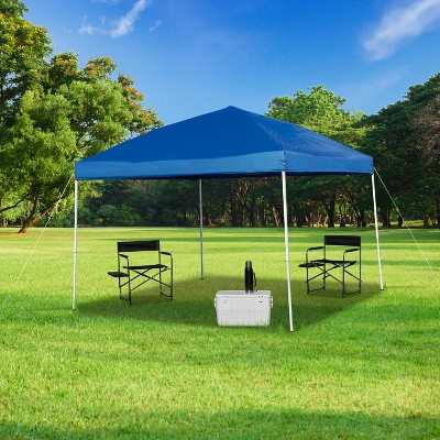 Flash Furniture 10'x10' Outdoor Pop Up Event Slanted Leg Canopy Tent with Carry Bag