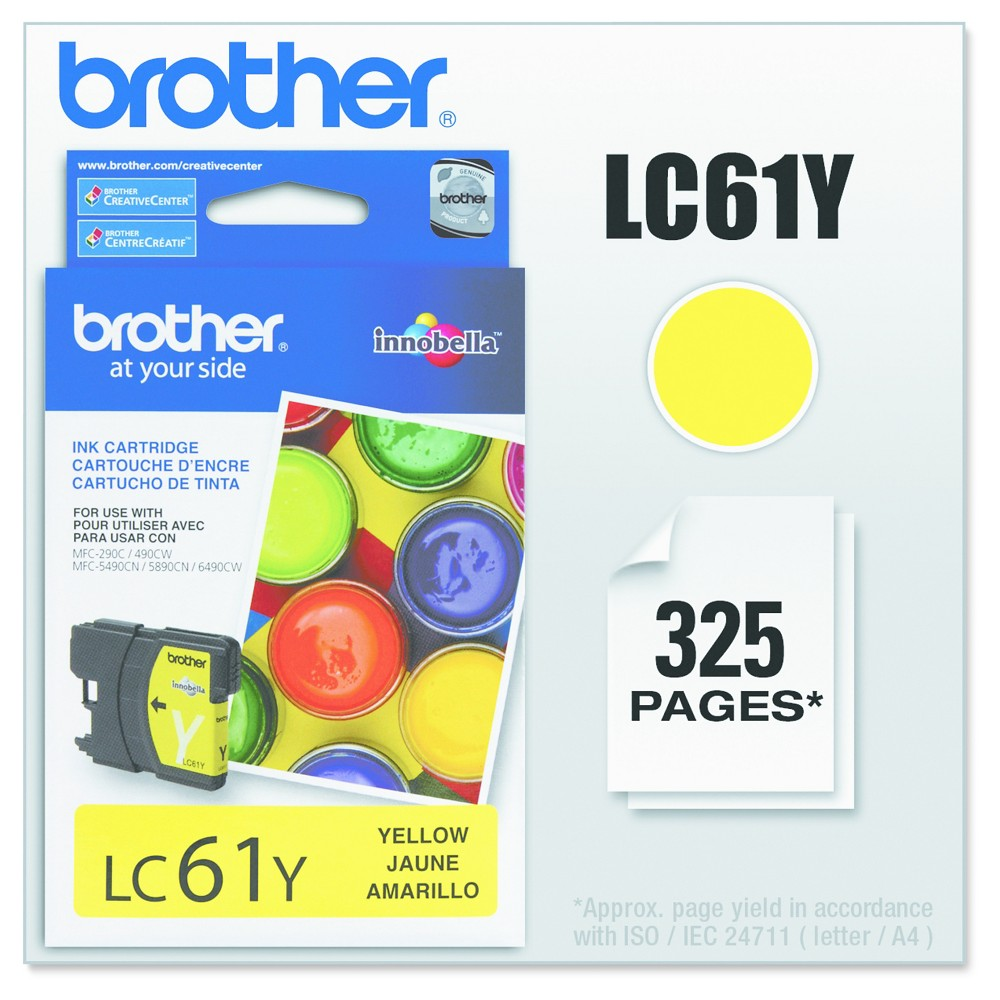 Brother LC61Y Single Ink Cartridge - Yellow (BRTLC61Y)