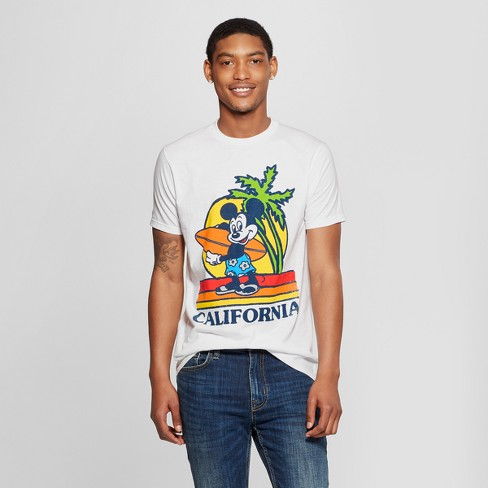 97862d4d2 Men's Mickey Mouse Short Sleeve Surf Board Graphic T-Shirt - White ...