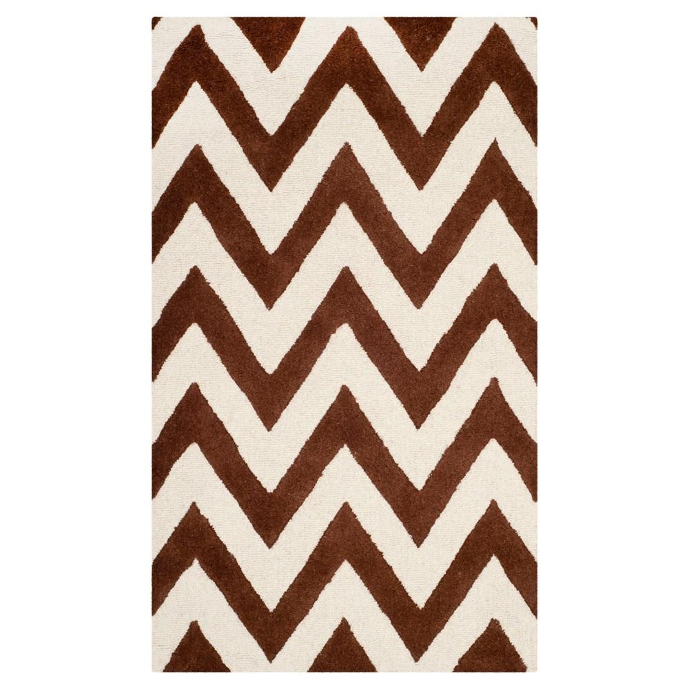 Dalton Textured Rug - Dark Brown / Ivory (3' X 5') - Safavieh, Dark Brown/Ivory