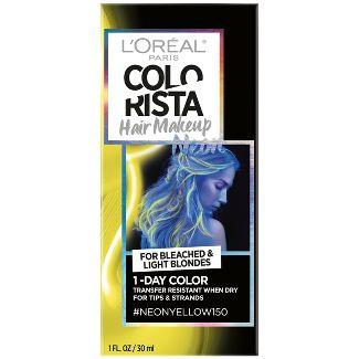 LOréal Paris Colorista Hair Makeup 1-Day Hair Color - Neon Yellow 150 - 1 fl oz