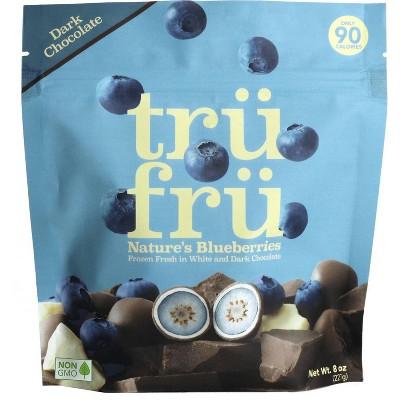 Tru Fru Frozen Whole Blueberries Immersed White & Dark Chocolate - 8oz