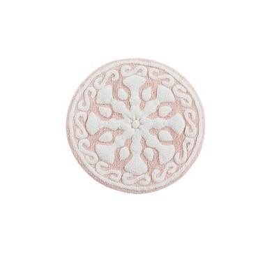 Tunisia Medallion Cotton Tufted Bath Rug