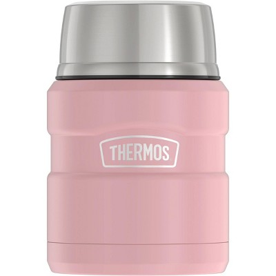 Thermos 16oz Stainless King Food Jar with Spoon - Matte Rose