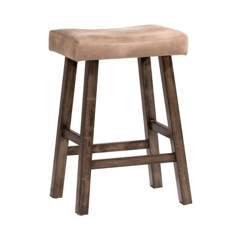 Outstanding 30 Saddle Backless Counter Stool Rustic Gray Taupe Hillsdale Furniture Pdpeps Interior Chair Design Pdpepsorg