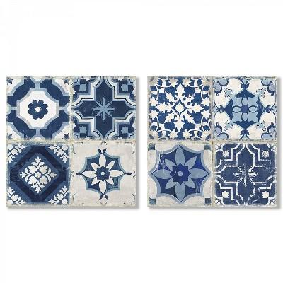 Americanflat Indigo Mosaic Tile by PI Creative Art - 2 Piece Canvas Print Set