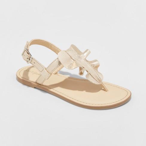 9dbb63ed4 Girls  Naomi Ruffle Thong Sandals - Cat   Jack™   Target