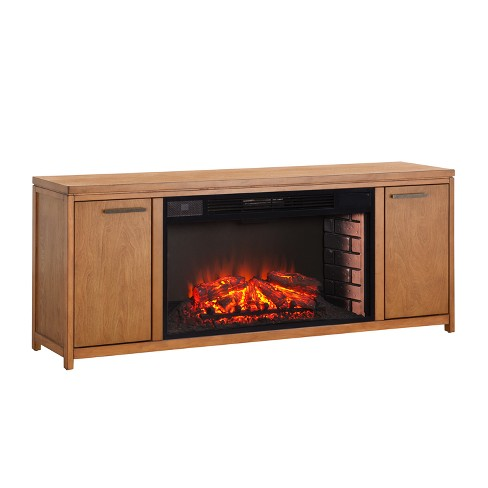 Limden 33 Widescreen Electric Fireplace Tv Stand Weathered Gray Oak