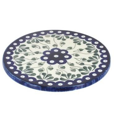 Blue Rose Polish Pottery Alyce Trivet