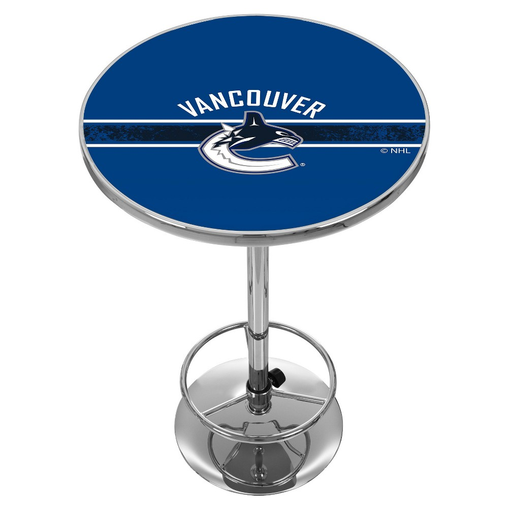 NHL Vancouver Canucks Chrome Pub Table