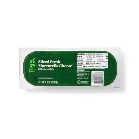 Sliced Fresh Mozzarella Cheese Log - 16oz - Good & Gather™ - image 1 of 2