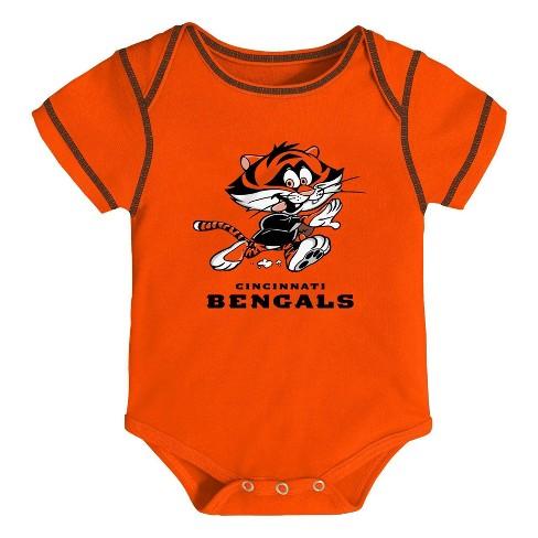 708c6e3c NFL Cincinnati Bengals Baby Boys' Newest Fan 3pk Bodysuit Set