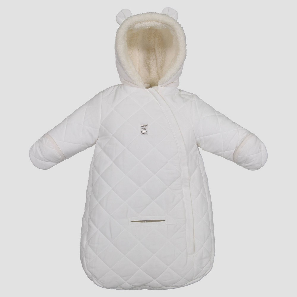 Image of Baby Bear Snowsuit - Just One You made by carter's Ivory One Size, Toddler Unisex, White
