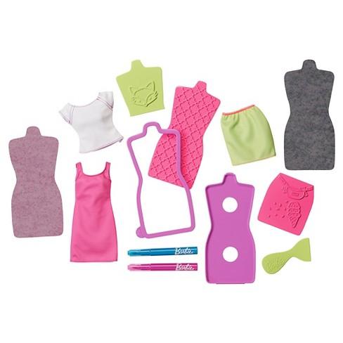 Barbie D I Y Fashion Design Plates Accessory Purple And Blue Target