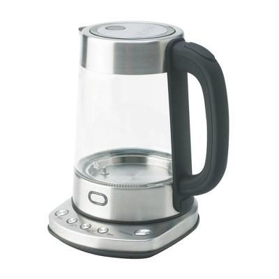 Nesco GWK-03D 1.8 Quart BPA Free Home Kitchen Appliance LED Digital Electric Glass Water Kettle Teapot