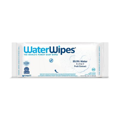 WaterWipes Unscented Baby Wipes - 60ct