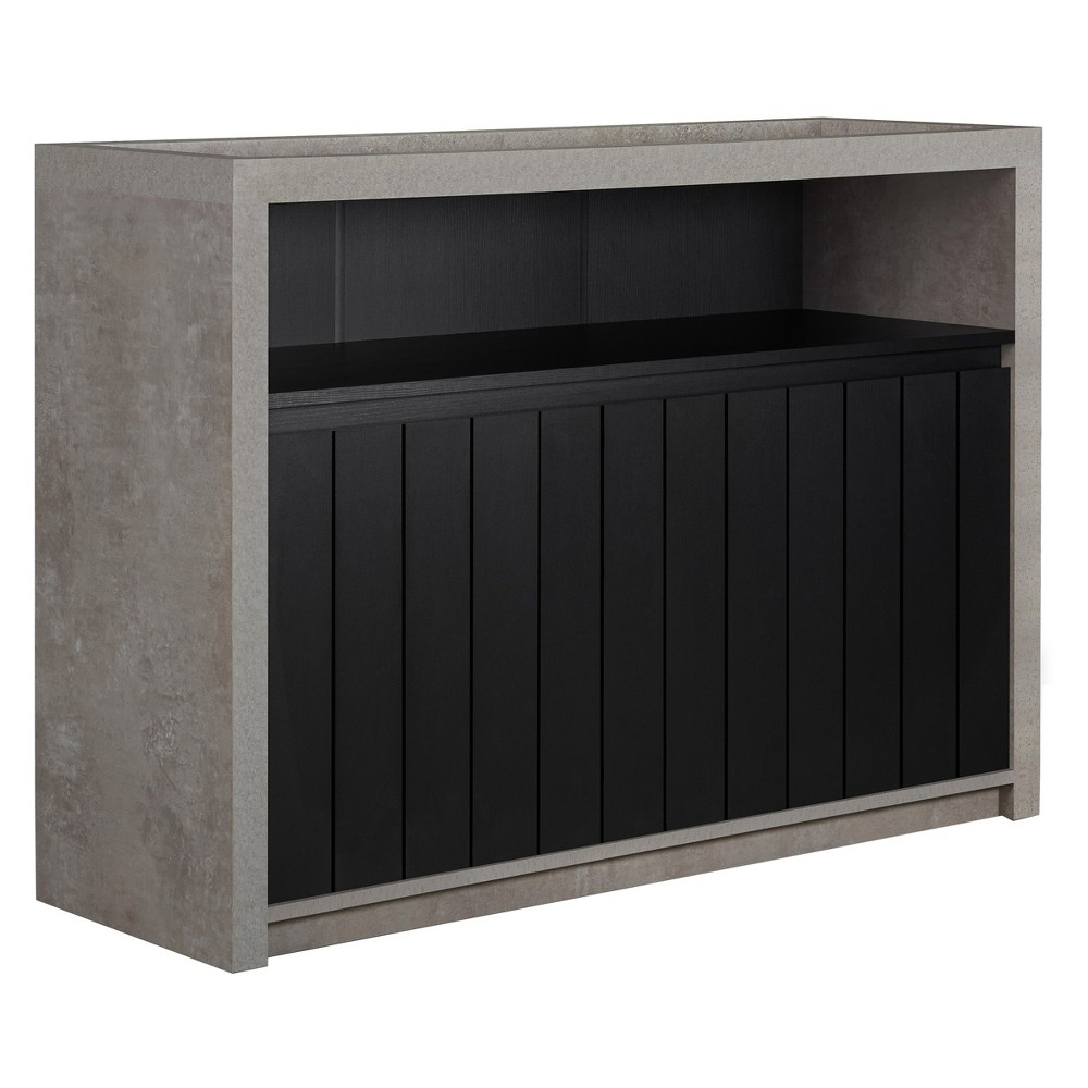 Image of Iohomes Naye Industrial Dining Buffet Distressed Walnut - HOMES: Inside + Out, Black