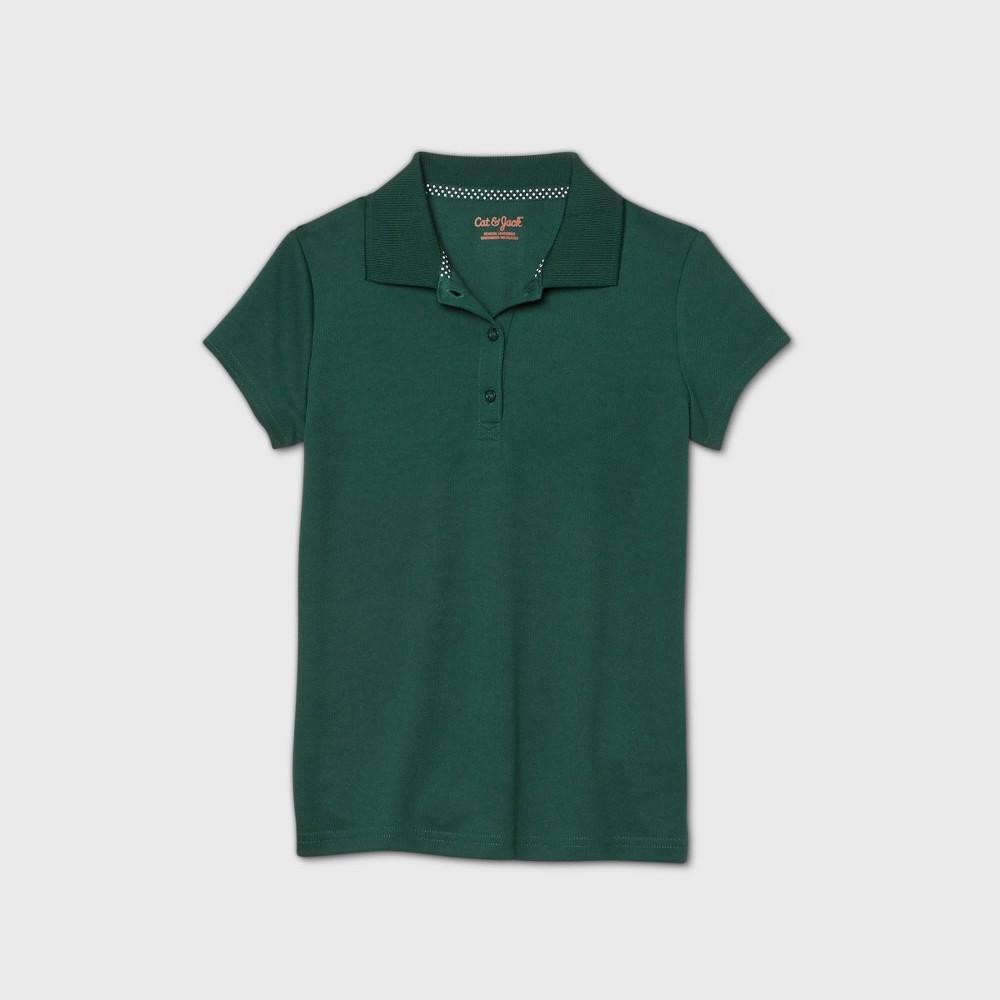 Girls 39 Short Sleeve Performance Uniform Polo Shirt Cat 38 Jack 8482 Green L Plus