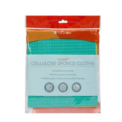 Full Circle Squeeze Cellulose Sponge - 3pk