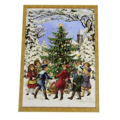"Christmas 13.75"" Dancing Around The Tree Advent Calendar Germany  -  Advent Calendar - image 1 of 3"