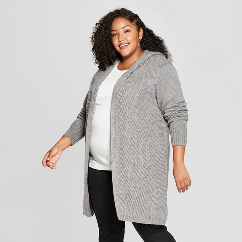 Womens Plus Size Hooded Car Coat A New Day Heather Gray 2x Target