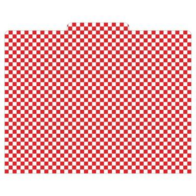 "Barker Creek File Folders, 9.5"" x 12"", 12ct - Red Check"