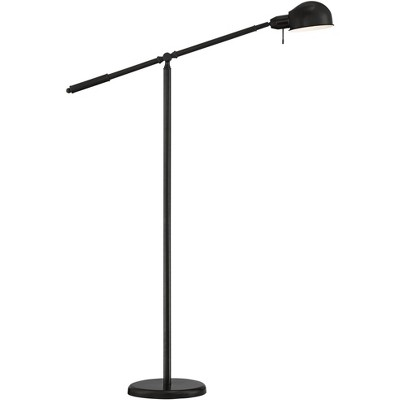 360 Lighting Modern Pharmacy Floor Lamp Dark Bronze Dawson Adjustable Boom Arm and Head for Living Room Reading Bedroom Office