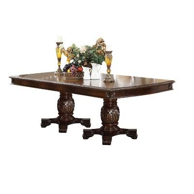 Chateau De Ville Extendable Dining Table with Double Pedestal Espresso - Acme Furniture