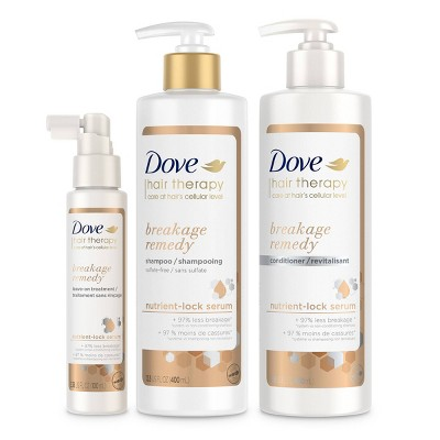 Dove Hair Therapy Breakage Remedy Shampoo + Conditioner + Leave-On Treatment - 3ct/30.38 fl oz