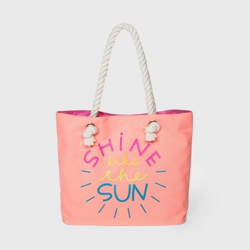 Girls' Tote Starfish Handbags - Cat & Jack™ Peach - image 1 of 1