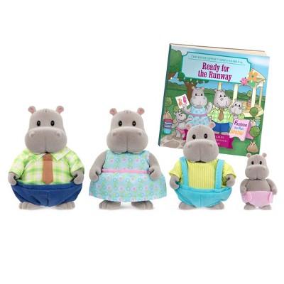 Li'l Woodzeez Miniature Animal Figurine Set - Riverdipper Hippo Family