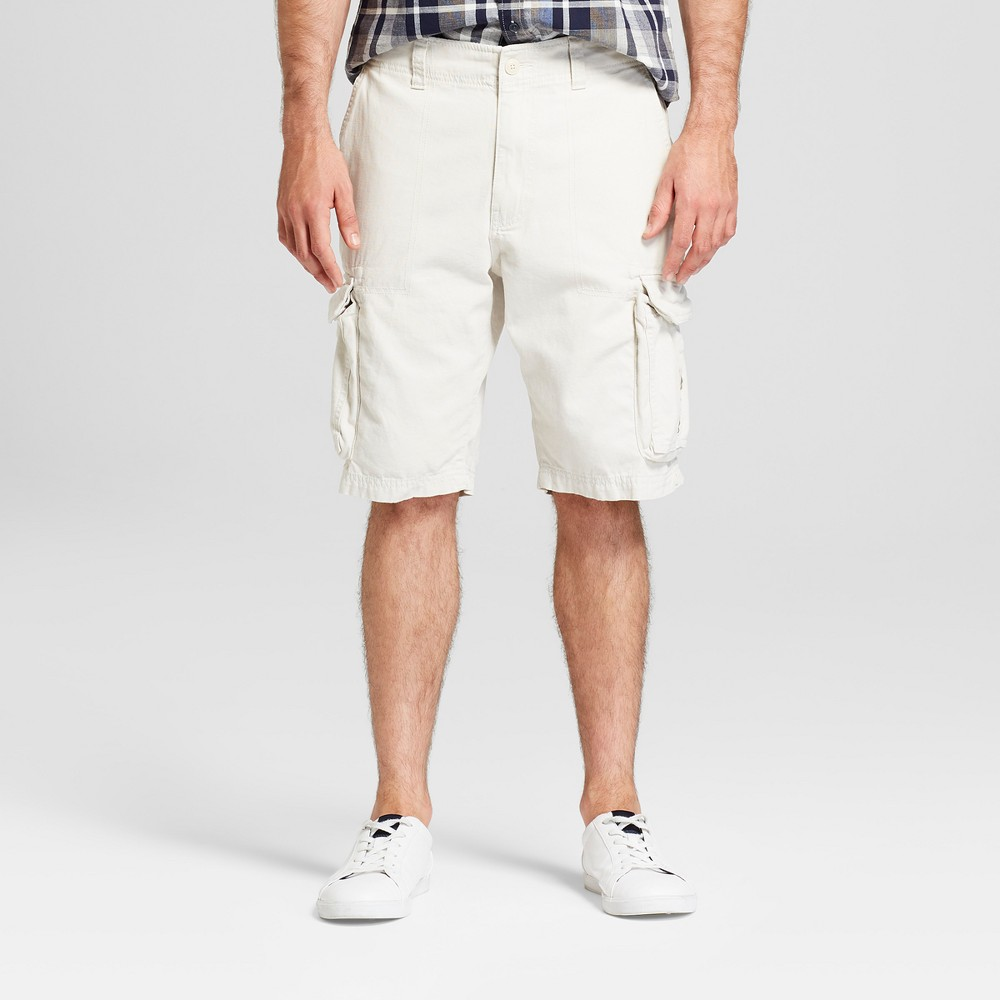Men's 11 Twill Cargo Shorts - Goodfellow & Co Beachcomber 28