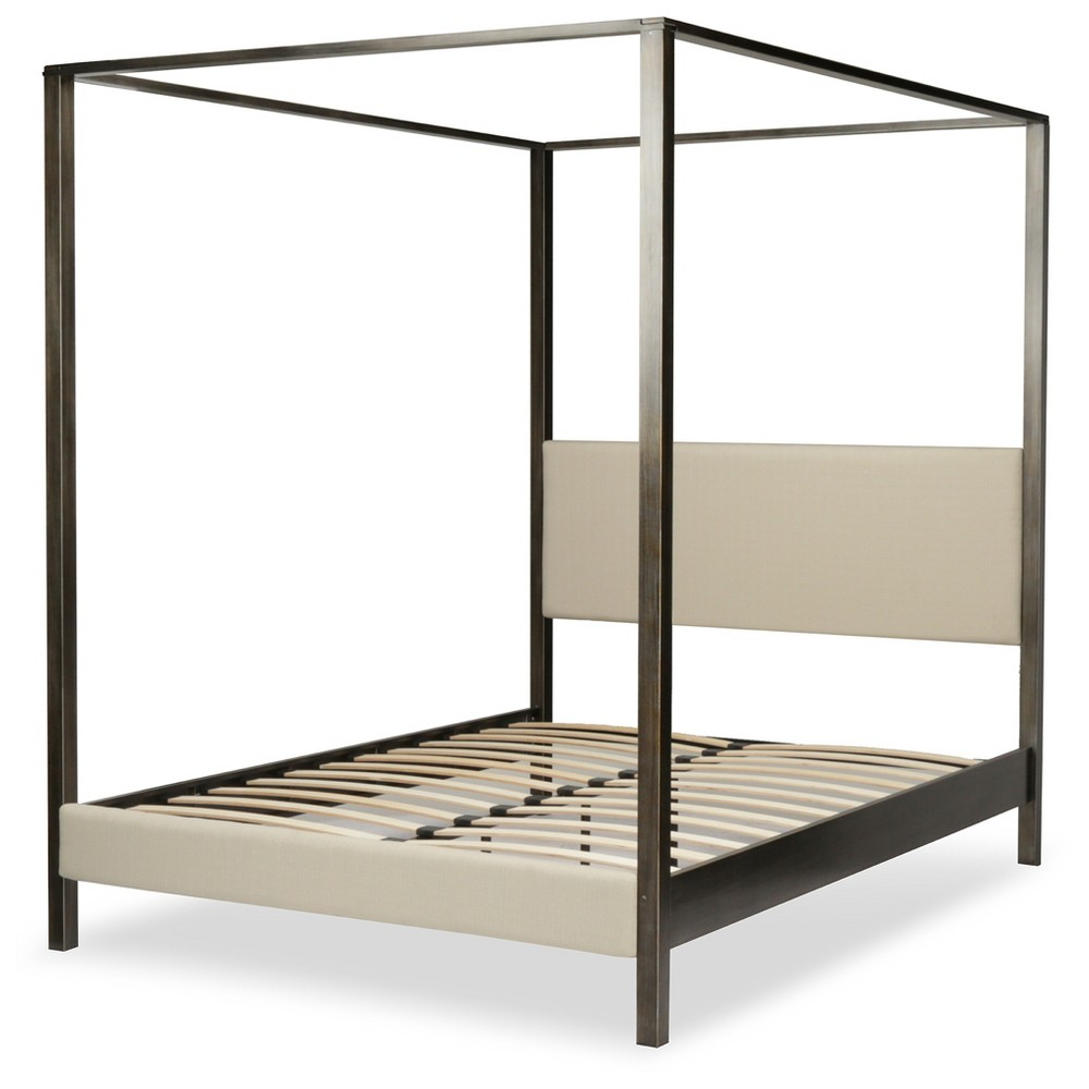 Avalon Canopy Bed - Slate - California King - Fashion Bed Group, Gray