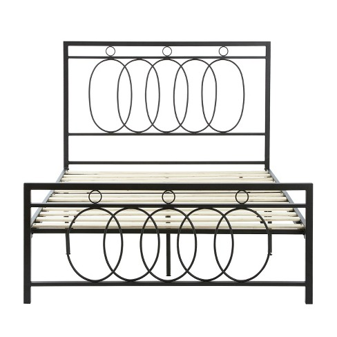 Hattie Metal Platform Bed Queen Black-Eco Dream - image 1 of 3