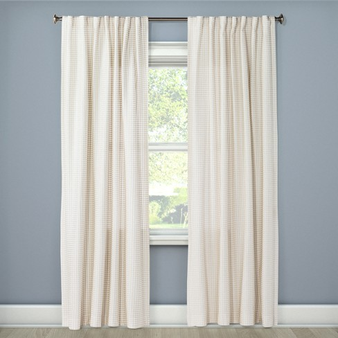 "Light Filtering Curtain Panel Beachcomber 108"" - Threshold™ - image 1 of 2"